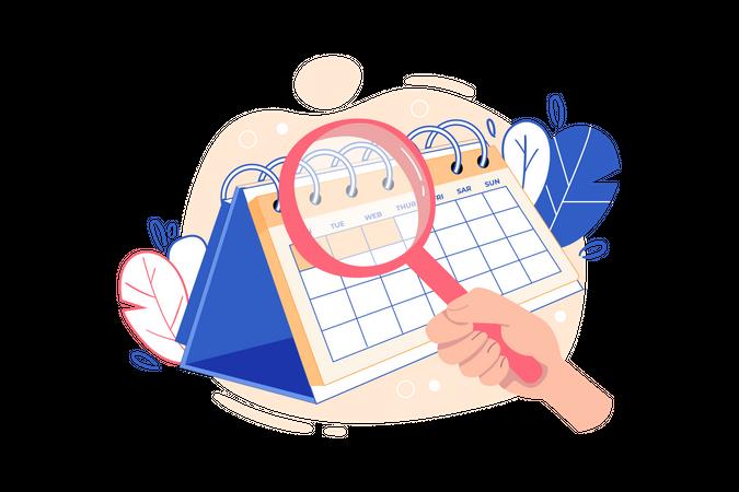 Task schedule plan Illustration