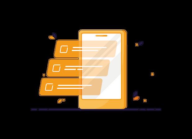 Tasklist on phone Illustration