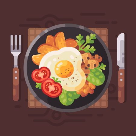 Tasty Breakfast Illustration