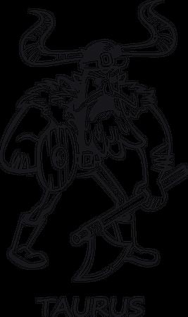 Taurus zodiac sign Illustration