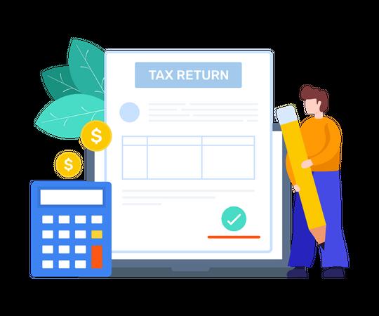 Tax Return Illustration