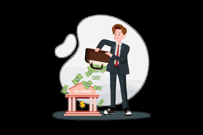 Tax Service money Illustration