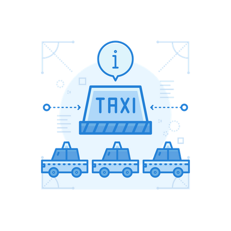 Taxi Stand Illustration