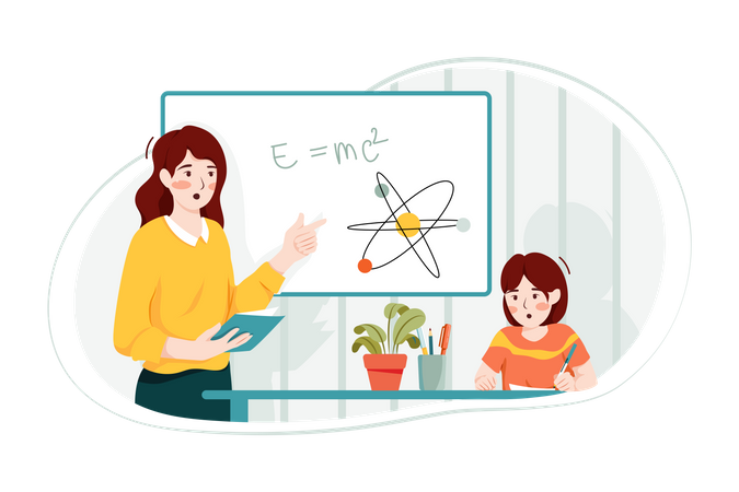 Teaching mathematics Illustration