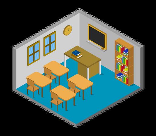 Teaching room Illustration