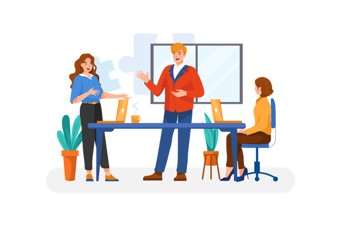Team Building Illustration