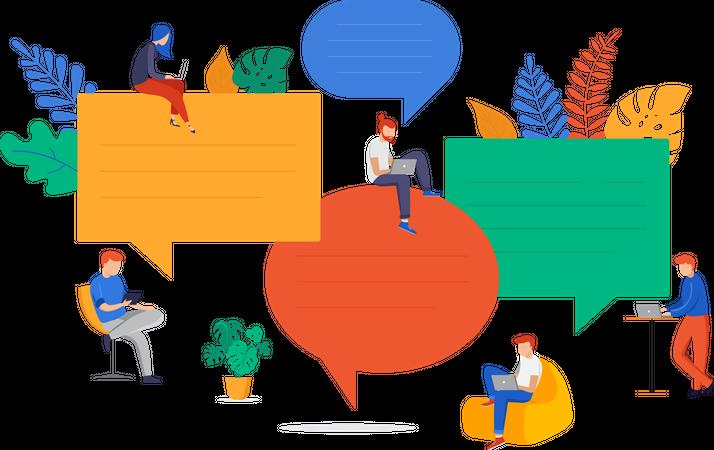Team communication Illustration
