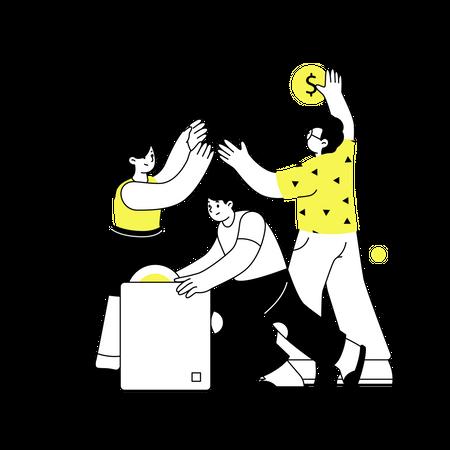 Team Development Illustration