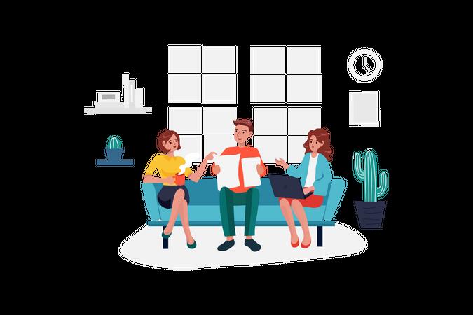 Team discussion Illustration