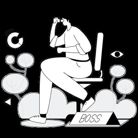 Team leader finding opportunity Illustration