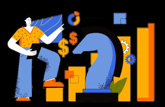 Team Leader Making Business Strategy Illustration