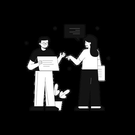 Team mate guidance Illustration
