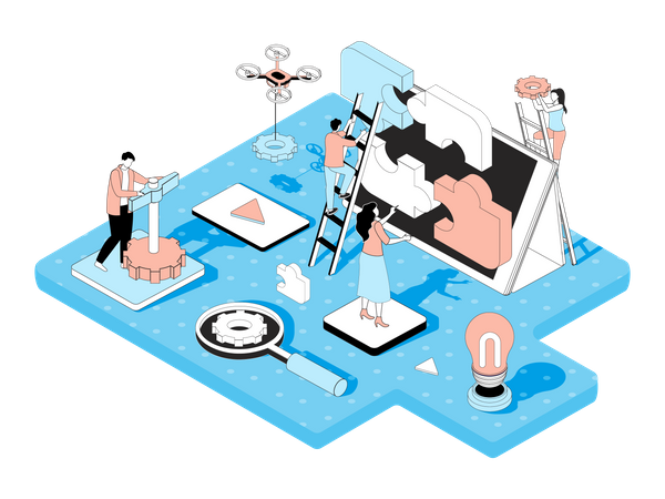 Team Work Illustration