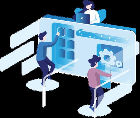 Team Working Together Illustration