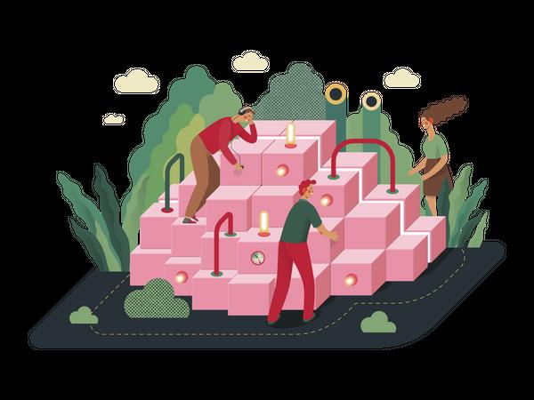 Teamwork And Collaboration Illustration