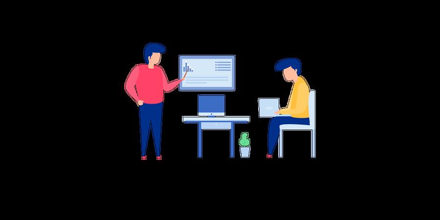 Teamwork Discussion Illustration