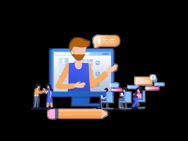Teamwork Education Workshop Illustration