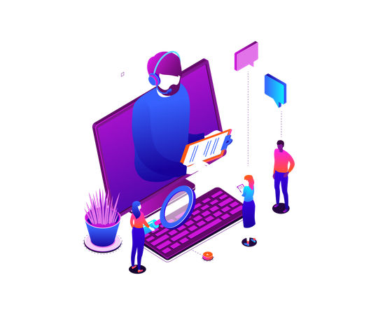 Technical support Illustration