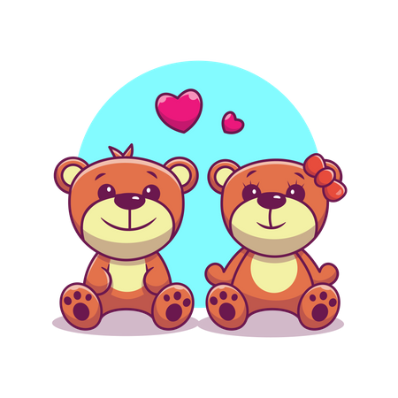 Teddy bears Illustration