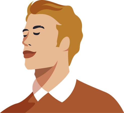 Teenager with handsome face Illustration