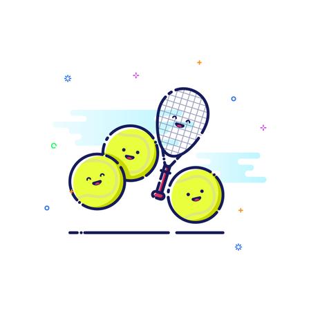Tennis Sport Illustration