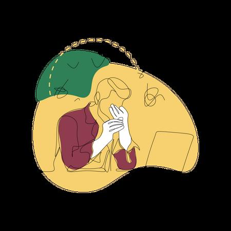 Tense Person Illustration