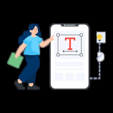 Text Editor Illustration