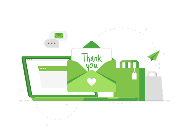Thank You For Your Order mail Illustration