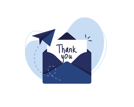 Thank you Mail Illustration