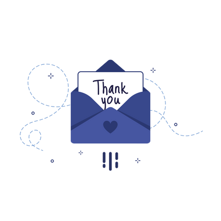 Thanks you letter Illustration