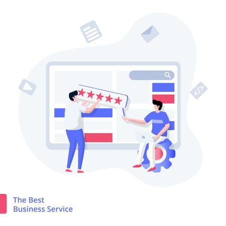 The Best Business Service Illustration