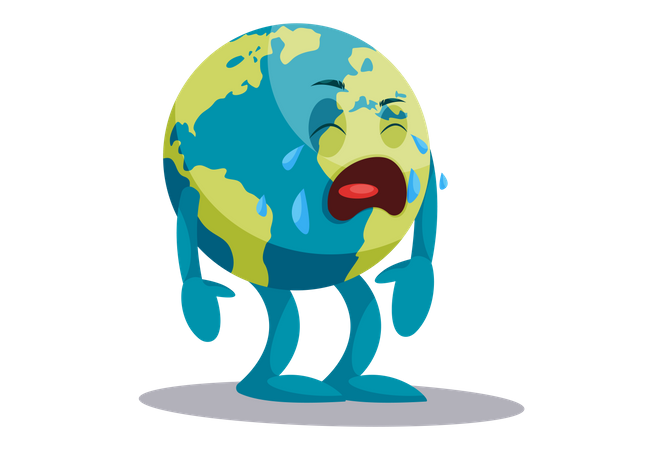 The earth is crying Illustration