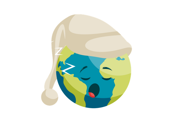The earth is sleeping Illustration