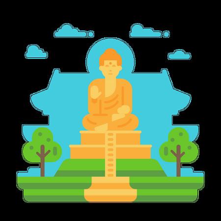The Great Buddha Illustration