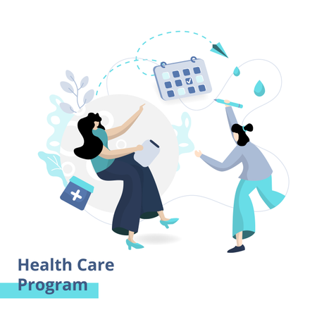 The Health Care Program Illustration