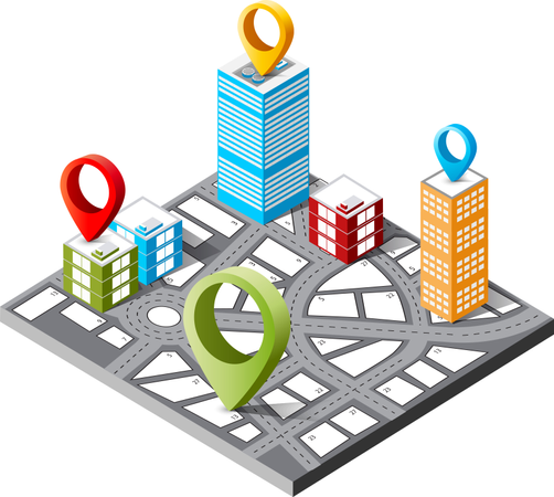 The navigation map Illustration