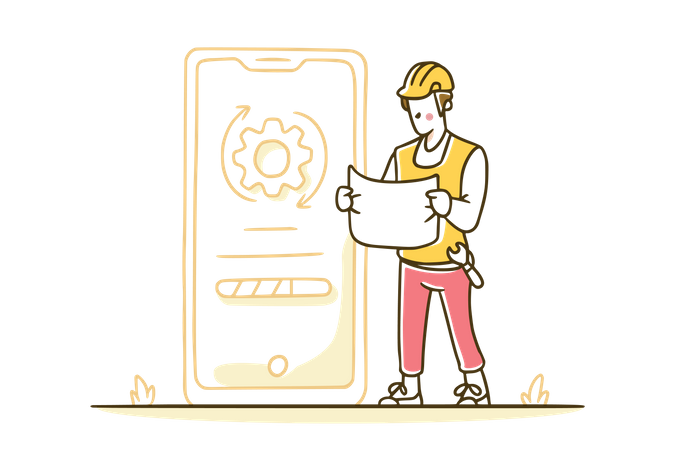 The system is being updated Illustration