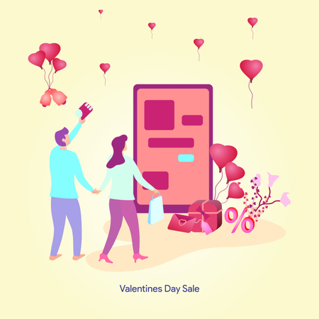 The Valentines Day illustration Illustration