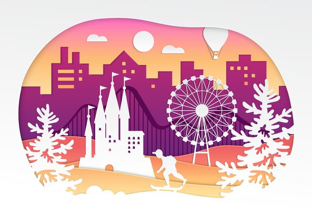 Theme park Illustration