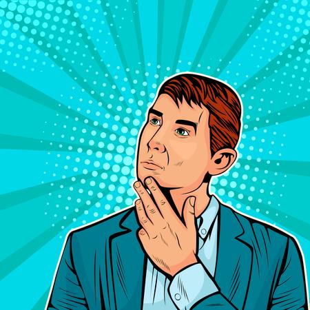 Thinking businessman Illustration