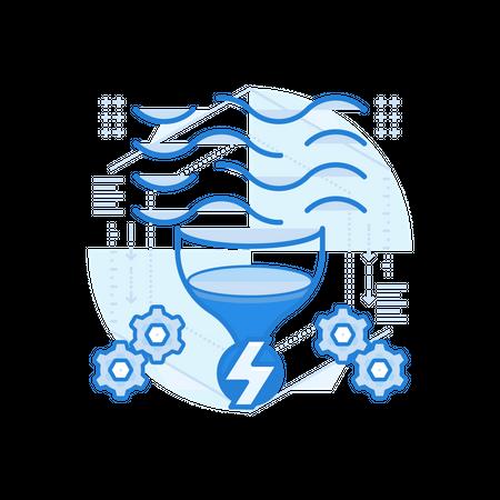 Tidal Power Illustration