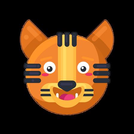 Tiger happy expression Illustration
