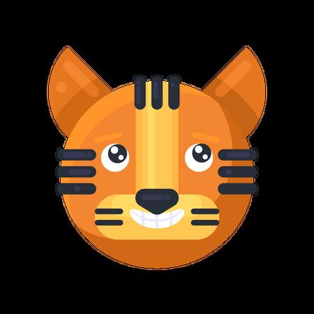 Tiger smiling Illustration