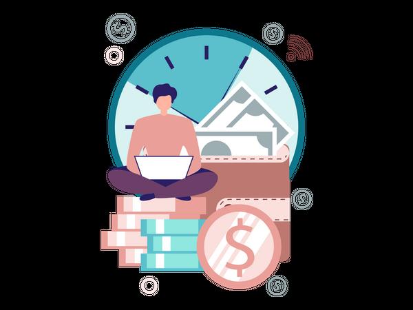 Time is Money Illustration