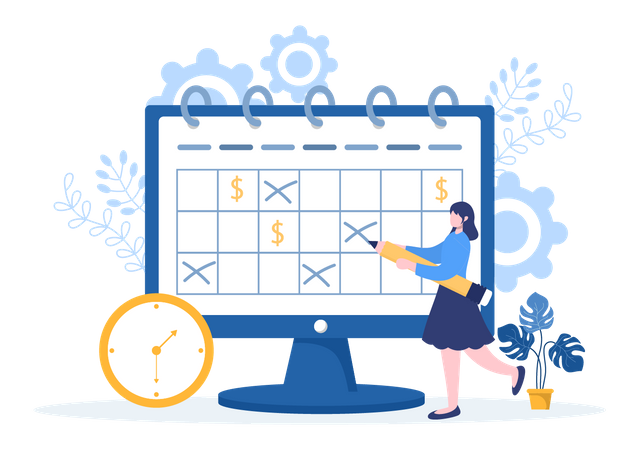 Time Management and planning Schedule Illustration