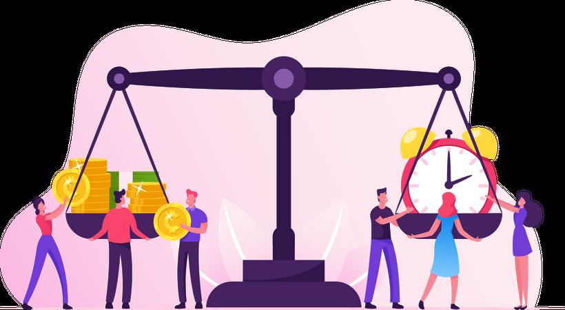 Time Management Balance Illustration