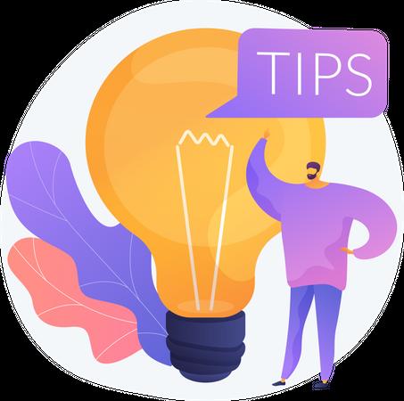 Tips & Creative Ideas Illustration