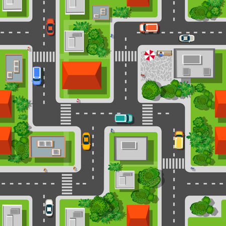 Top view  city seamless Illustration