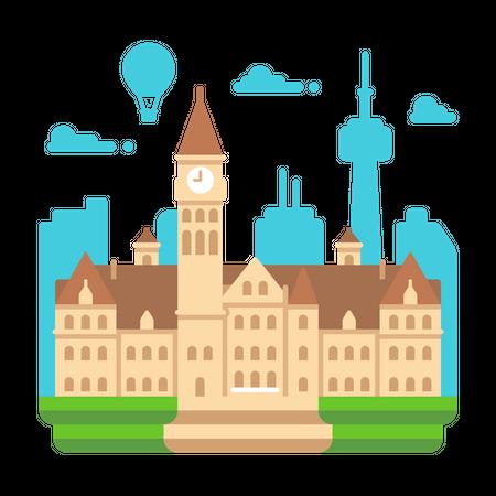 Toronto City Hall Illustration
