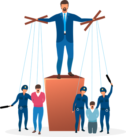 Totalitarian regime Illustration